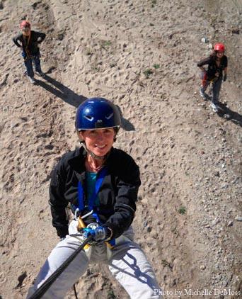 Vertical Caving practice in Tucson